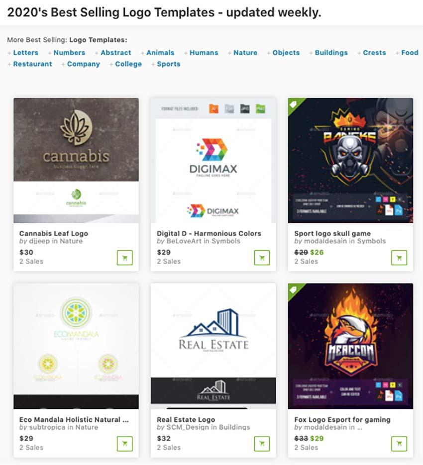 best-selling logo design graphicriver