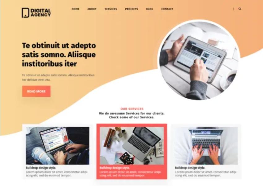 Digital Agency Lite Free WordPress Theme