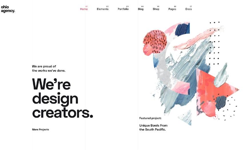 Ohio - Creative Portfolio Agency WordPress Theme