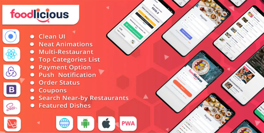 Foodlicious - Food delivery app Ionic 5