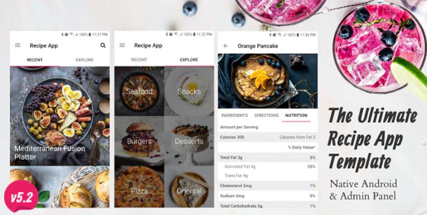Ultimate Recipe App Template