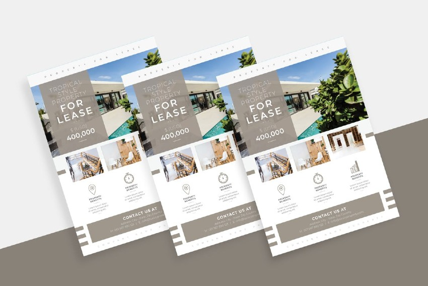 The Real State InDesign Flyer Template is one of our most popular templates