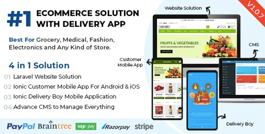 Best eCommerce Solution with Delivery App