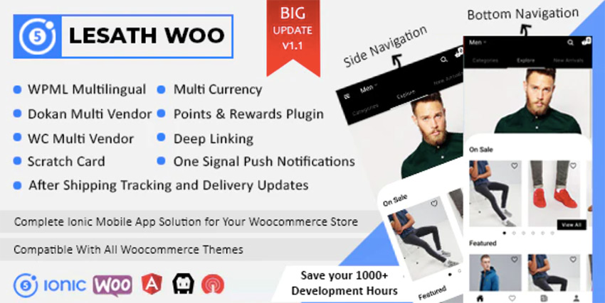 Lesath - Ionic 5 WooCommerce Full Mobile App Solution