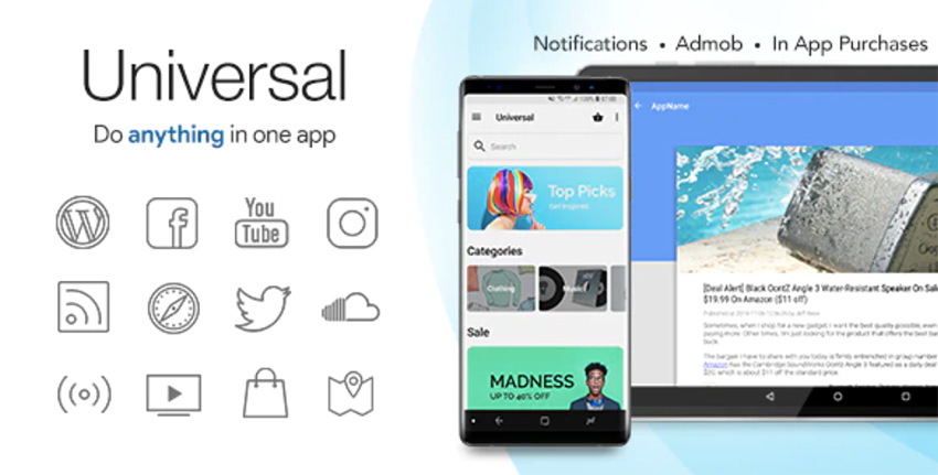 Universal full multipurpose Android App