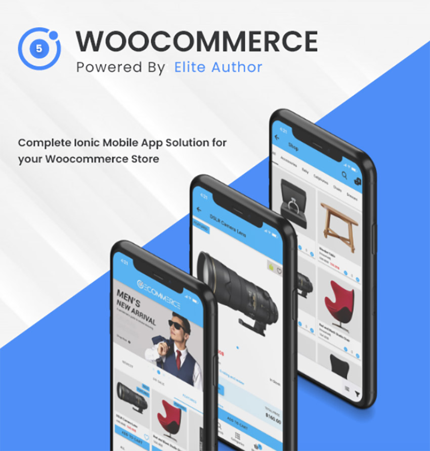 Ionic5 Woocommerce - Ionic5/Angular8 Universal Full Mobile App