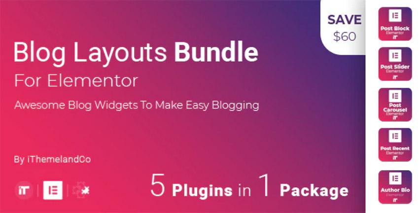 Blog Layouts Bundle For Elementor