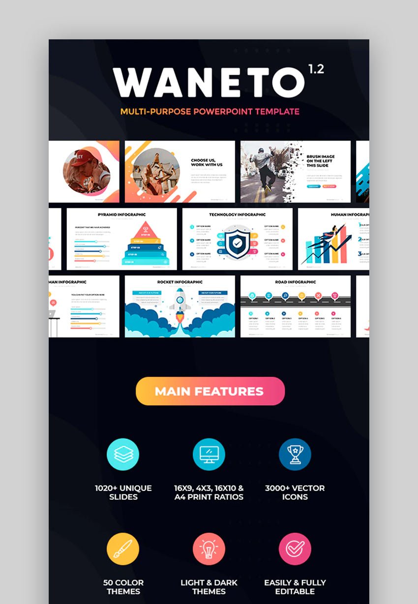 Waneto-Multi-Purpose PowerPoint Template