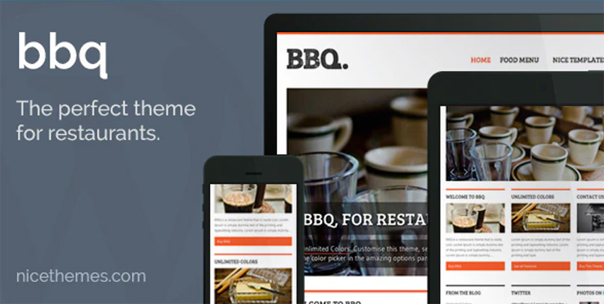 BBQ is a responsive WordPress restaurant theme from Envato Market.