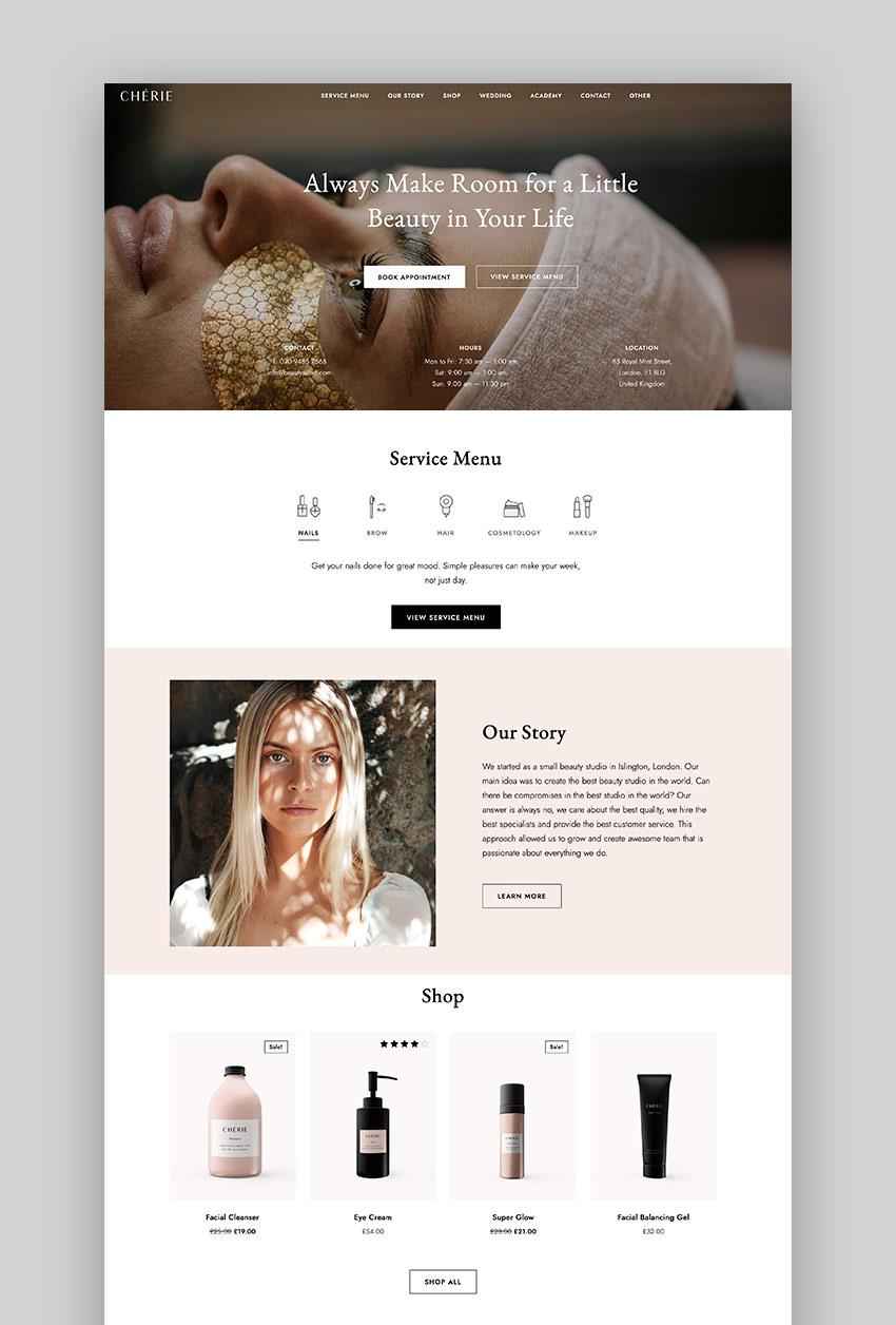 Chérie - Beauty Salon WordPress Theme