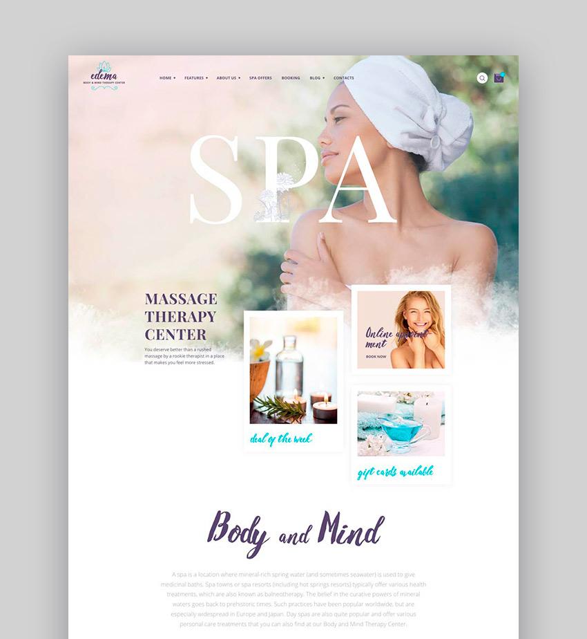 Edema Wellness Spa WordPress Theme