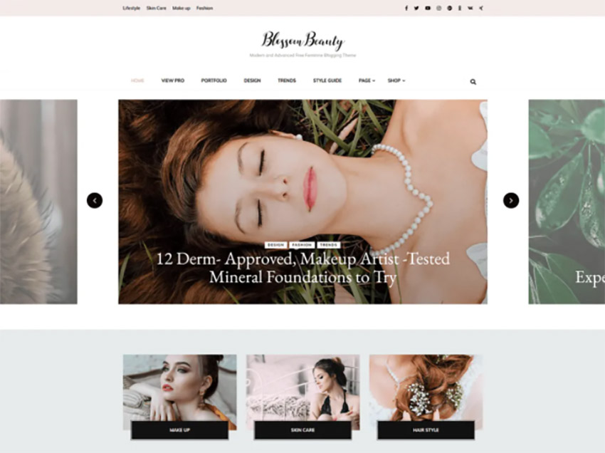 Blossom Beauty Free Beauty Salon Website Theme