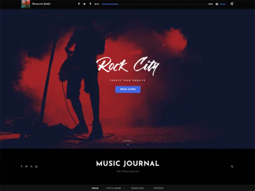 Music Journal Free WordPress Theme For Musicians