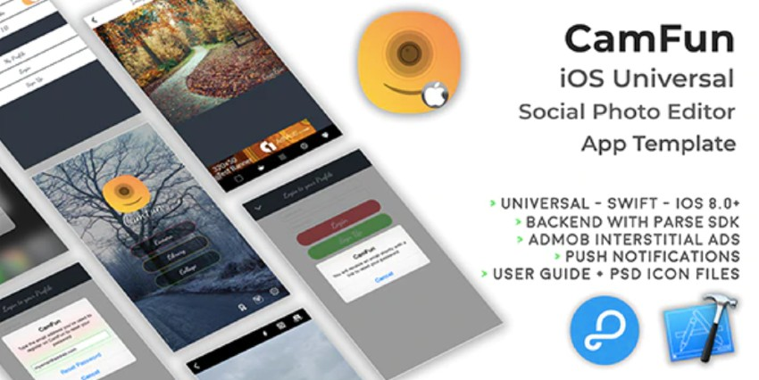 CamFun iOS Universal Social Photo App Template