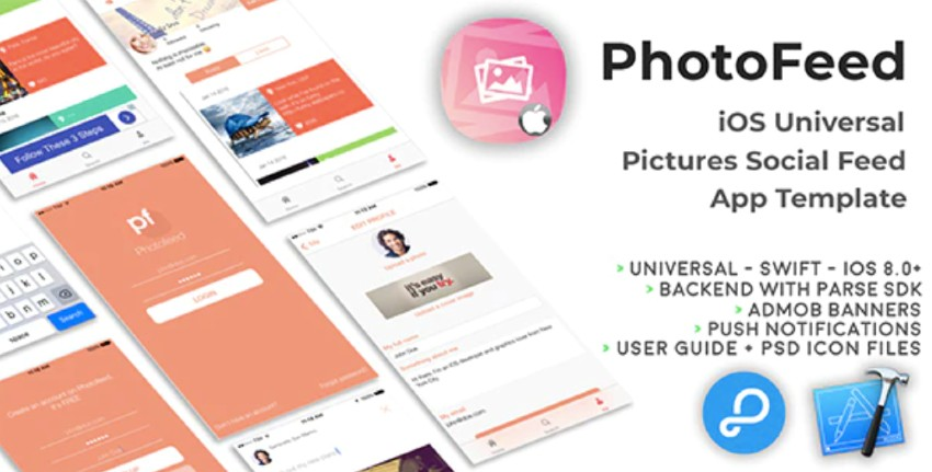 Photofeed iOS Universal Social Photo feeds App Template