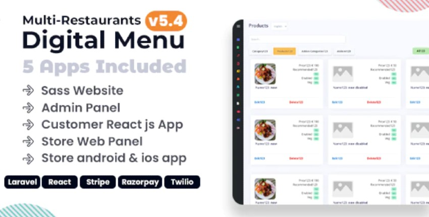 Chef - Multi-Restaurant Digital Menu App