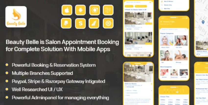Salon & Spa Appointment Booking App For Android
