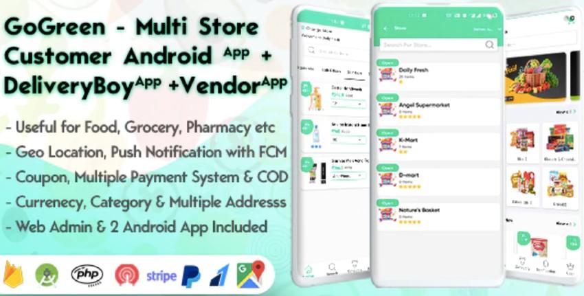 GoGreen - Multi Store Vendor Android App