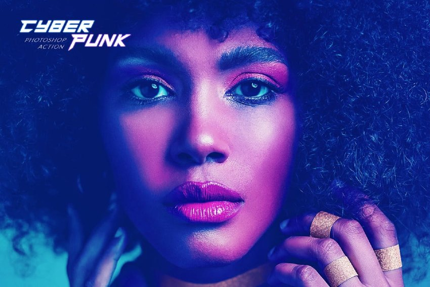 Get the new Cyberpunk Photoshop Action from Envato Elements