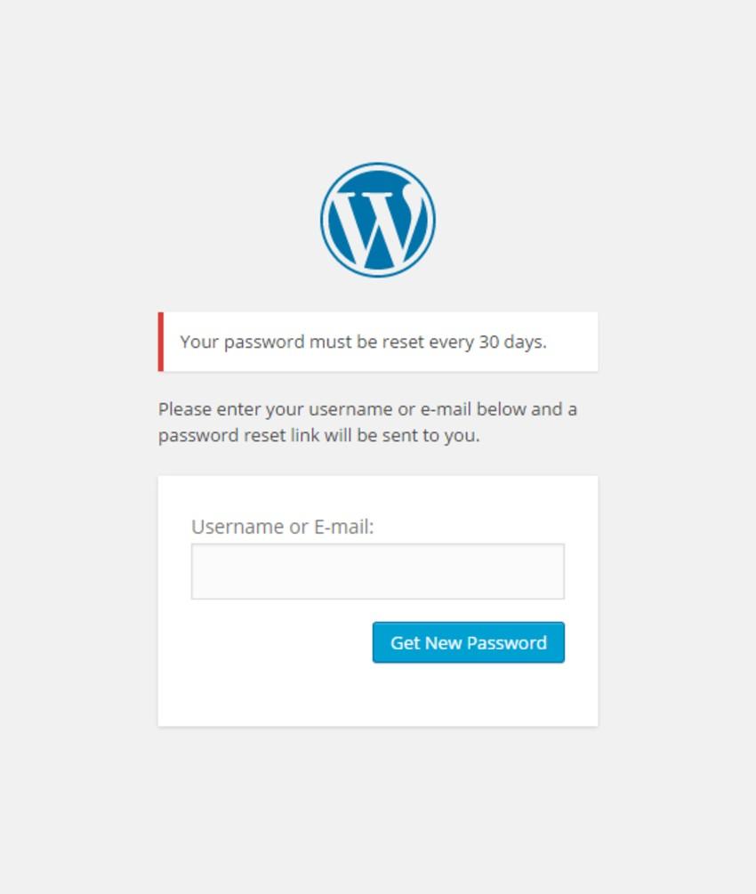 WordPress Expire Passwords Plugin