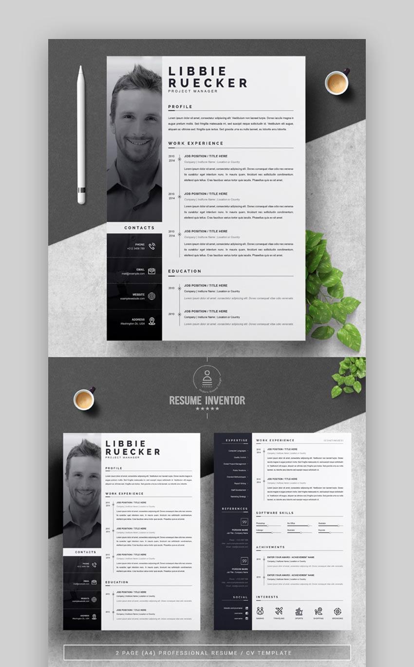 Modern Resume Templates W Clean Elegant Cv Designs 2021