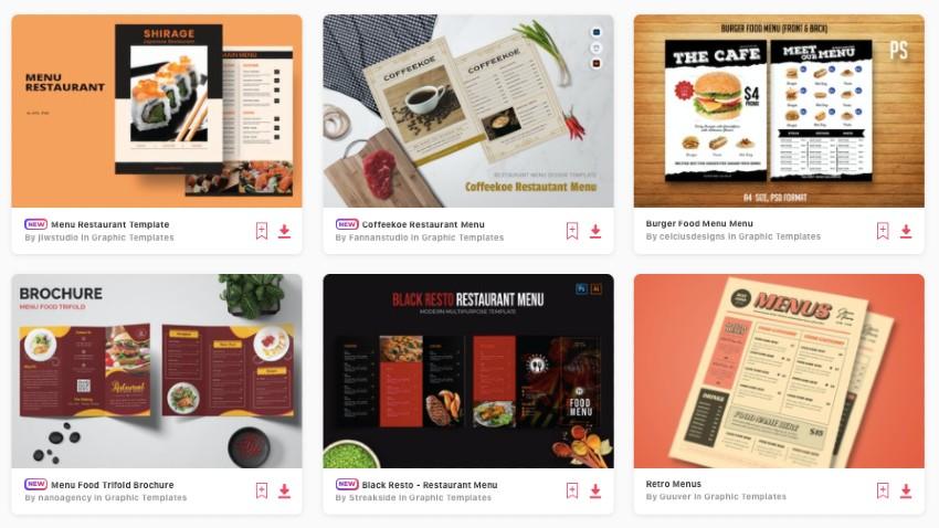 Get unlimited restaurant menu templates from Envato Elements