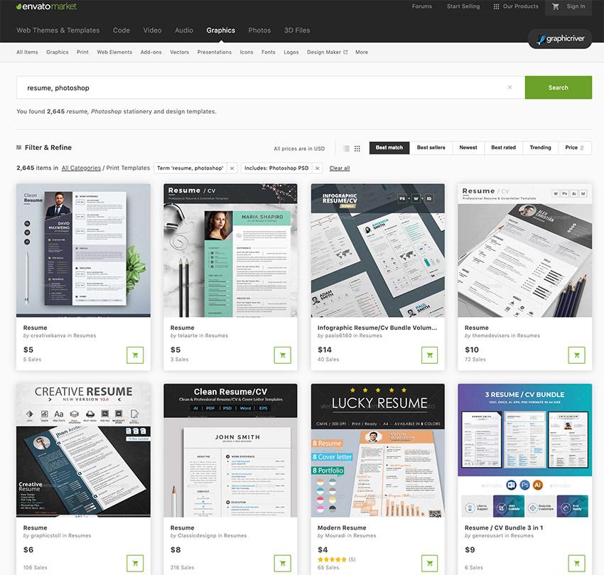35 Best Photoshop (PSD) Resume CV Templates (Photo Formats