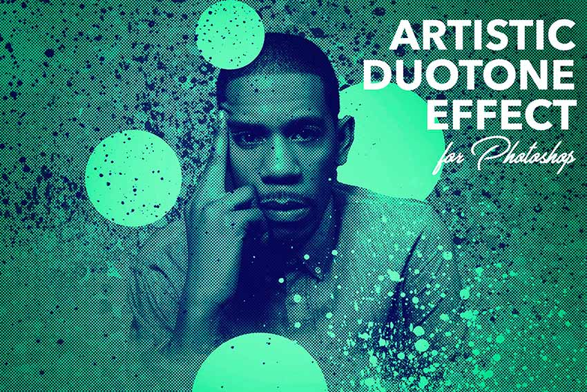 Artistic Duotone Effect - Photoshop Action (ATN, ABR)