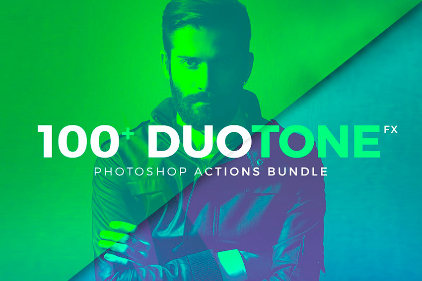 Duotone Photoshop Action Bundle (ATN)