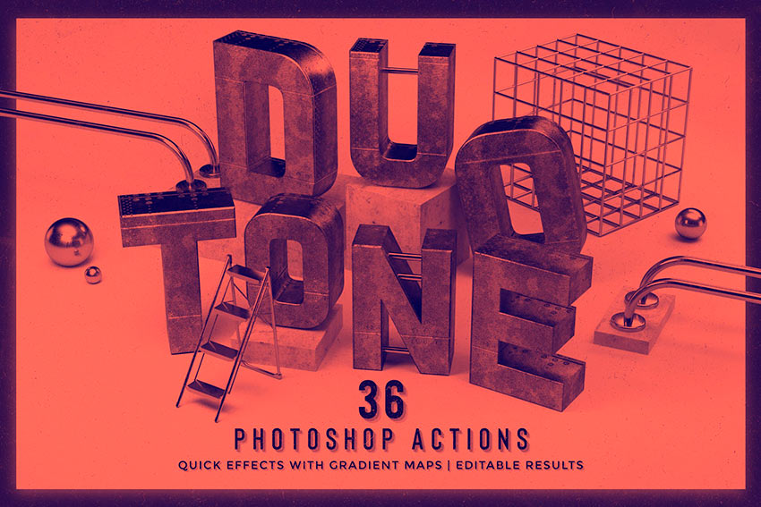 Duotone Photoshop Actions (ATN)