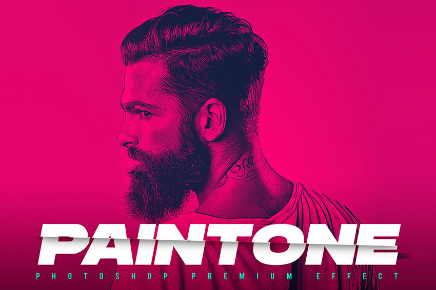 Paintone Photoshop Action - Duotone & Painting (ATN)