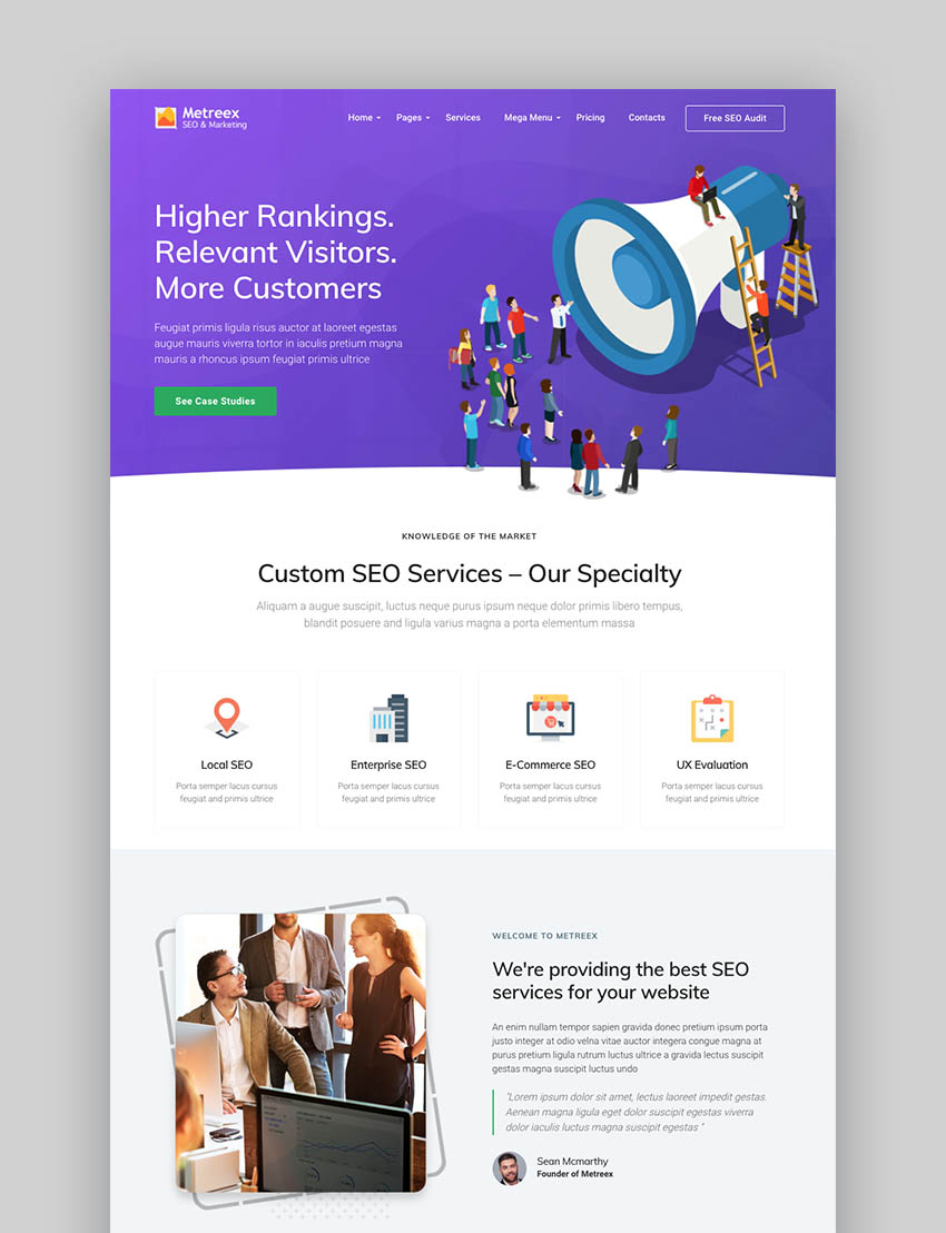 Metreex - SEO Marketing WordPress Theme