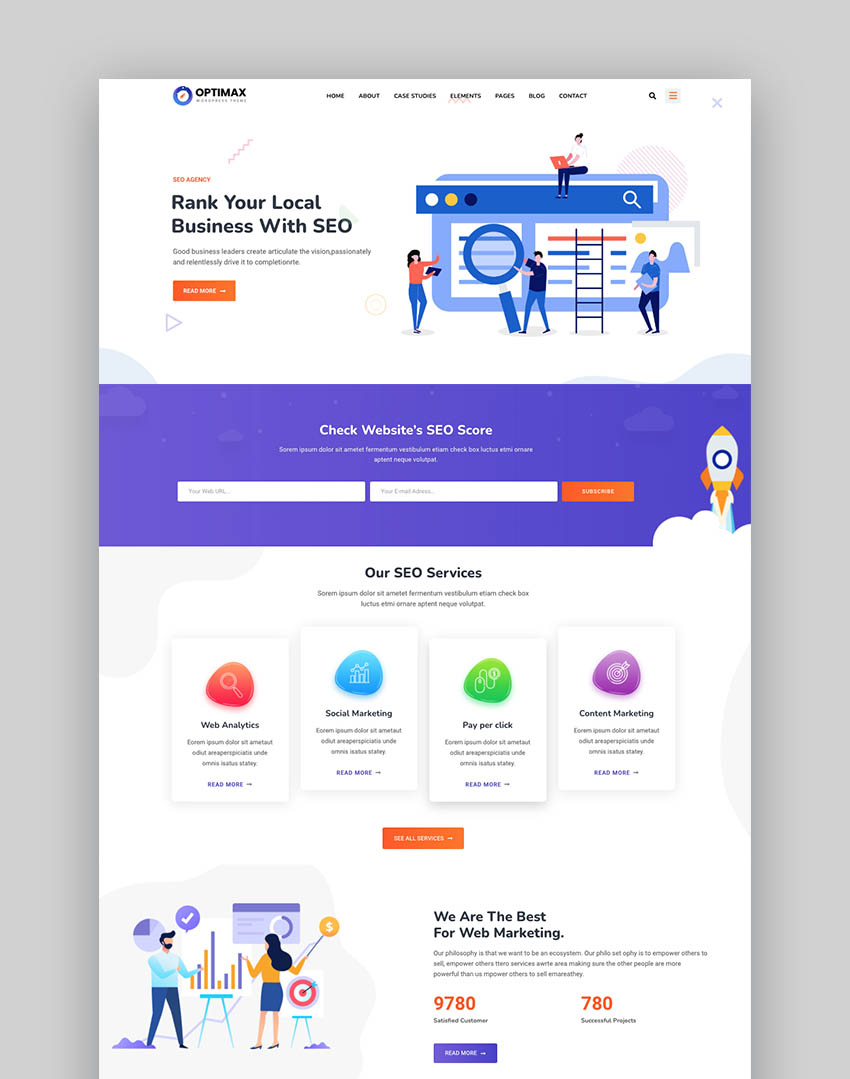 Optimax - SEO & Marketing WordPress Theme