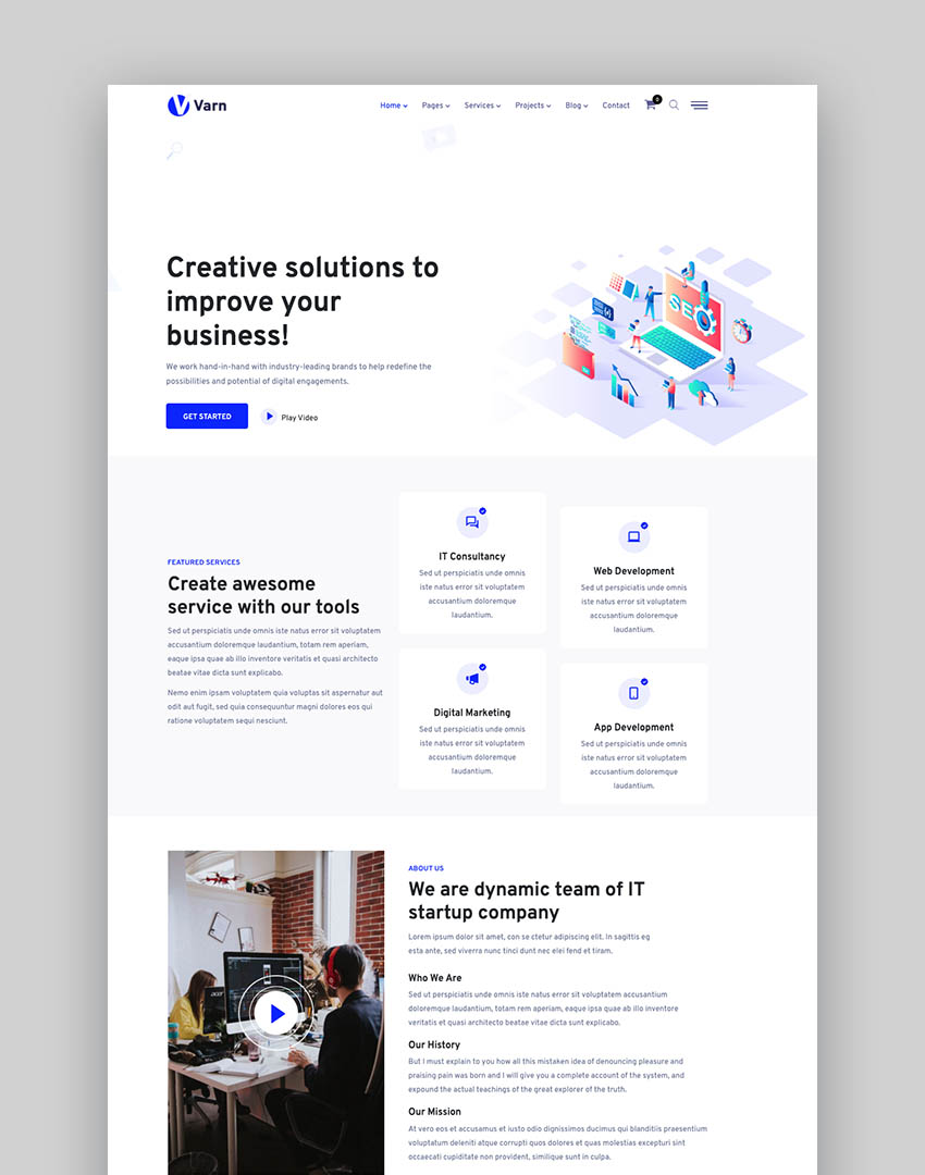 Varn - Elementor IT & SEO Agency WordPress Theme