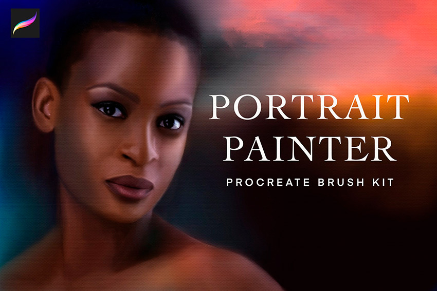 You can use these cool Procreate portrait brushes for your next piece.