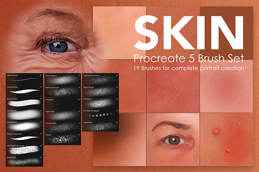 Skin Studio - Procreate Blending Brushes