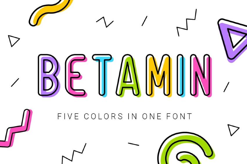 Betamin - Sans-serif Color Font