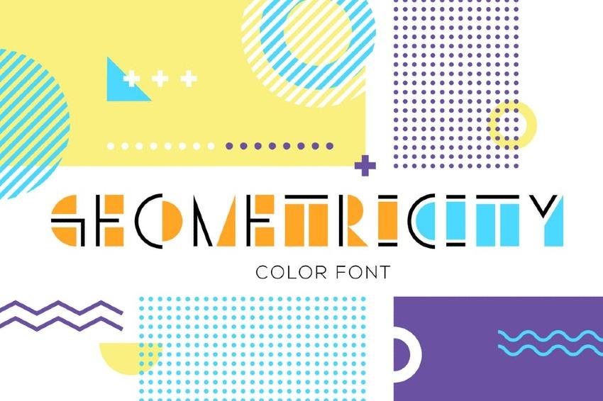 Geometricity Color Font