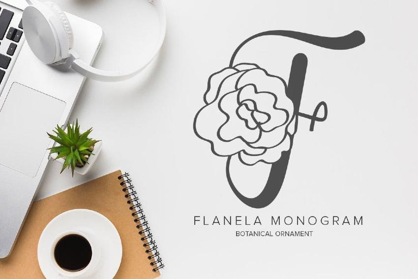 Flanela Monogram Font