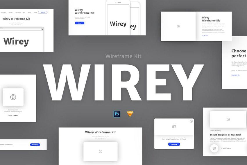 Image of Wirey%20Wireframe%20Kit