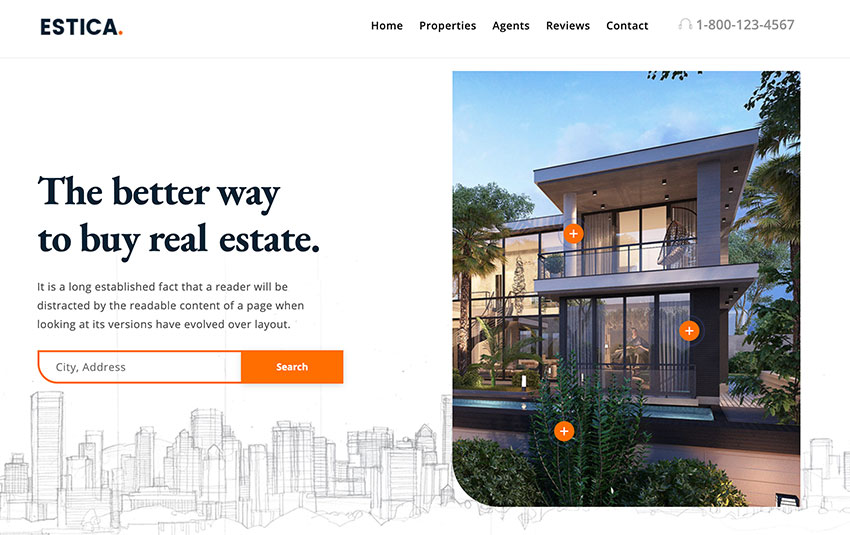 Estica — Real Estate Landing Page Template