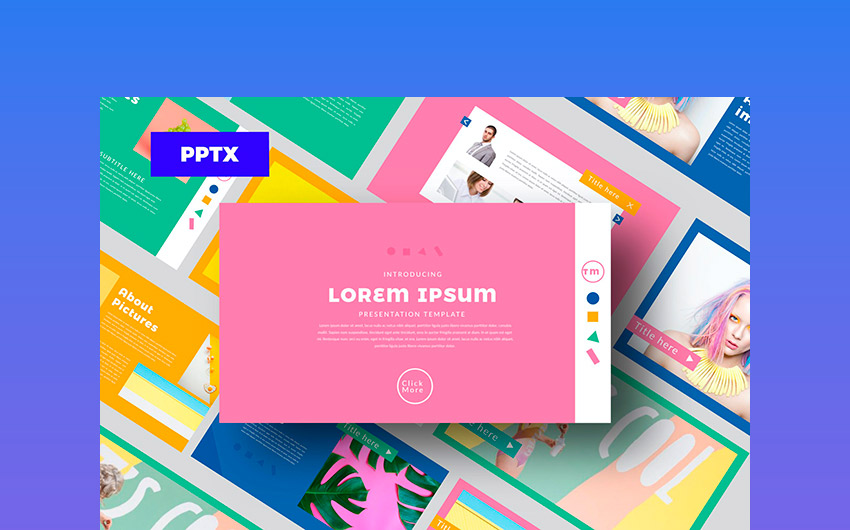 Color FUN - Colorful Powerpoint Template