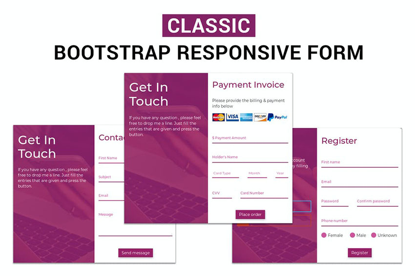 Classic - Responsive Bootstrap Form Template