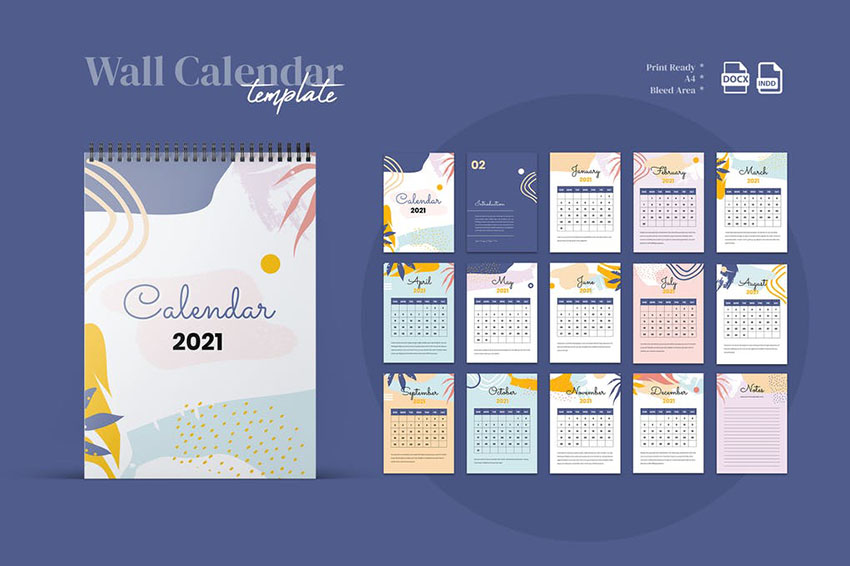 InDesign Calendar Template 202