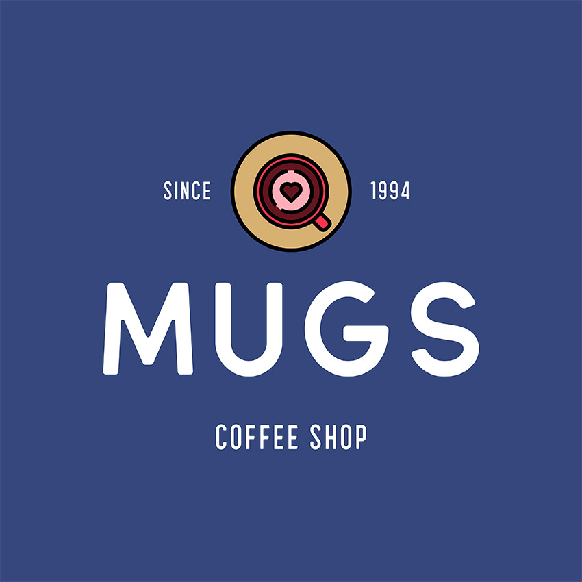 Coffee Mug Logo Template
