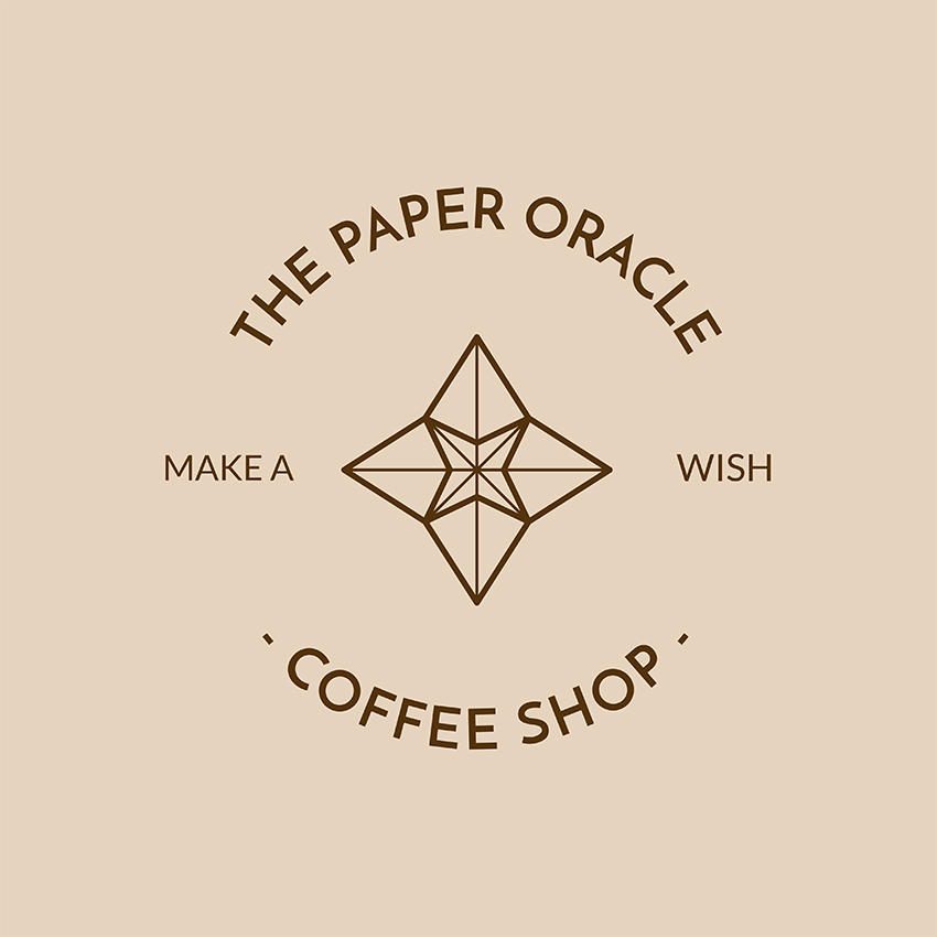 Coffee Shop Origami Logo Template
