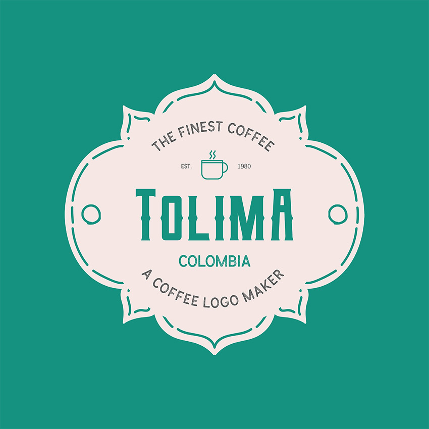 Colombian Coffee Brand Logo Template