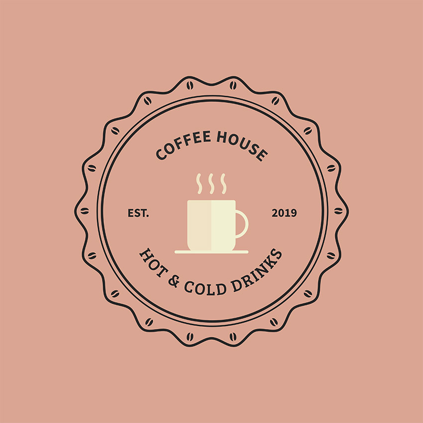 Vintage Style Coffee House Logo