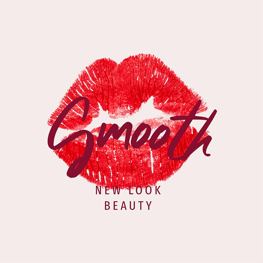 Beauty Logo Maker with Lipstick Kiss