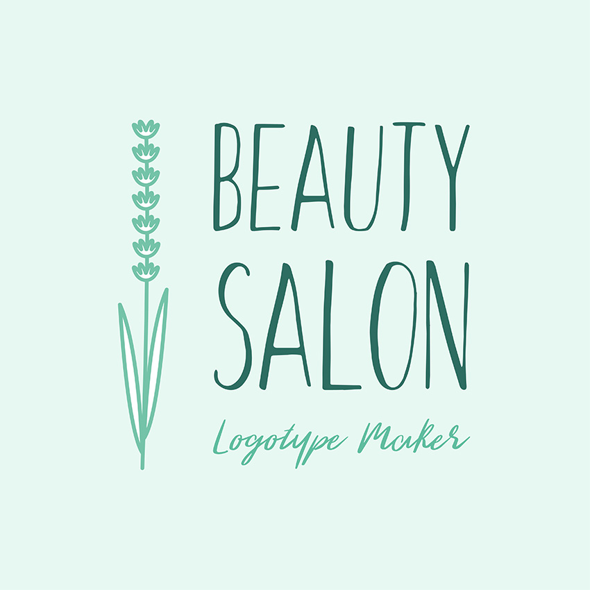 Beauty Salon Logo Maker with Floral Theme